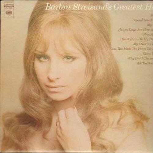 Streisand, Barbra - Greatest Hits: People, Second Hand Rose, Don't Rain On My Parade, Happy Days Are Here Again (vinyl STEREO LP record) - NM9/EX8 - LP Records