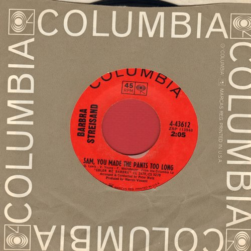Streisand, Barbra - Sam You Made The Pants Too Long/The Minute Waltz (with Columbia company sleeve) - NM9/ - 45 rpm Records