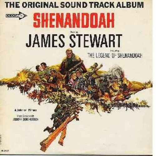 Stewart, James, Joseph Gershenson - Shenandoah - Original Motion Picture Sound Track, Music conducted by Joseph Gershenson, featuring the title song by James Stewart (vinyl MONO LP record, maroon label first issue) - NM9/NM9 - LP Records