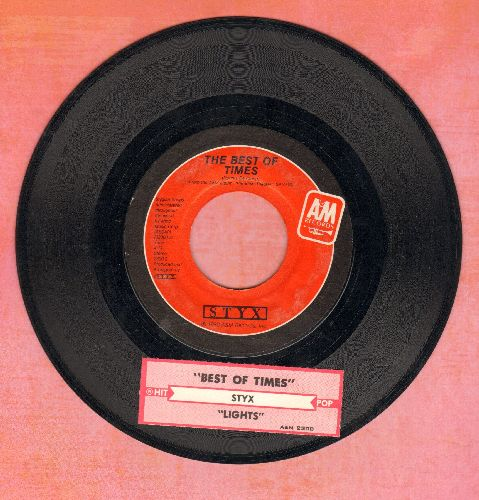 Styx - The Best Of Times/Lights (with juke box label) - EX8/ - 45 rpm Records