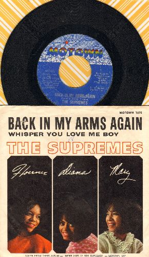 Supremes - Back In My Arms Again/Whisper You Love Me Boy (with picture sleeve) - EX8/VG7 - 45 rpm Records