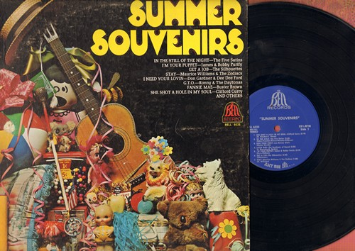 Curry, Clifford, Five Satins, Silhouettes, others - Summer Souvenirs: She Shot A Hole In My Soul, I'm Your Puppet, Stay, In The Still Of The Night (vinyl STEREO LP record) - EX8/EX8 - LP Records