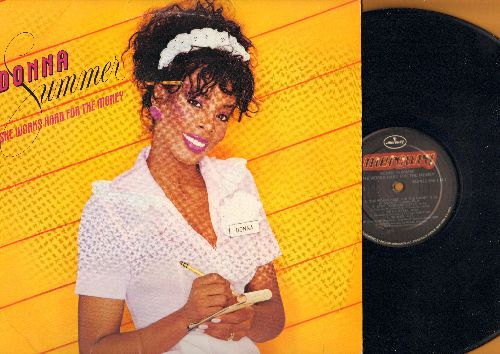 Summer, Donna - She Works Hard For The Money: He's A Rebel, Love Has A Mind Of Its Own (vinyl STEREO LP record) - NM9/NM9 - LP Records