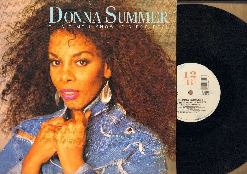 Summer, Donna - This Time I Know It's For Real (3 Track vinyl Maxi Single featuring 7:21 minutes Extended Dance version, with picture cover) - EX8/EX8 - Maxi Singles