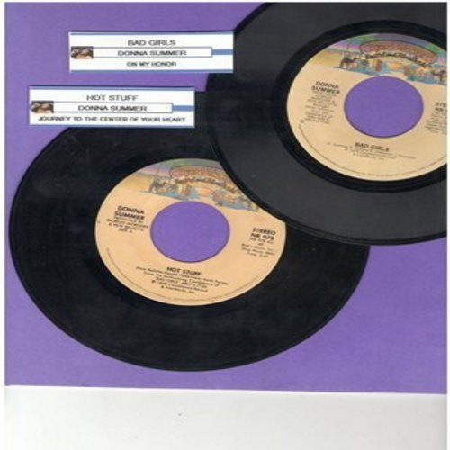 Summer, Donna - 2 for 1 Special: Bad Girls/Hot Stuff (2 vintage first issue 45rpm records with juke box labels for the price of 1!) - EX8/ - 45 rpm Records