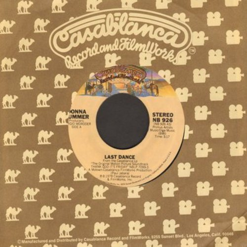 Summer, Donna - Last Dance (Favorite at Wedding Receptions and Parties!)/With Your Love   - M10/ - 45 rpm Records