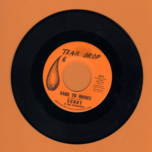 Sunny & The Sunliners - Rags To Riches/Not Even Judgement Day (wol) - VG7/ - 45 rpm Records