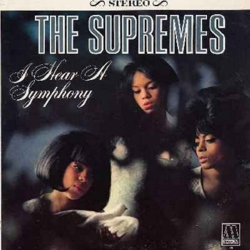 Supremes - I Hear A Symphony: Yesterday, Unchained Melody, A Lover's Concerto, Wonderful Wonderful (stereo) - NM9/EX8 - LP Records