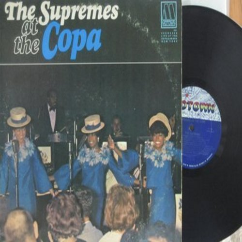 Supremes - The Supremes At The Copa: Put On A Happy Face, Nany Love, Stop! In The Name Of Love, The Boy From Ipanema, Come See About Me, Somewhere (vinyl MONO LP record) - NM9/VG7 - LP Records