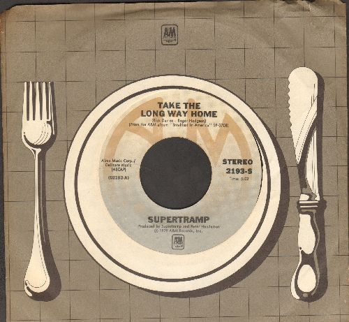 Supertramp - Take The Long Way Home/Rudy (with RARE A&M company sleeve) - NM9/ - 45 rpm Records