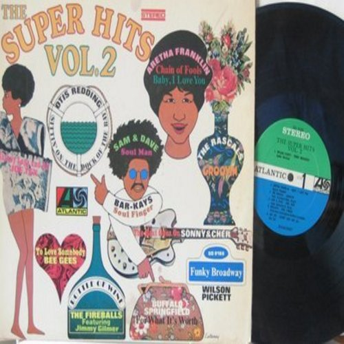 Pickett, Wilson, Aretha Franklin, Rascals, Otis Redding, others - The Super Hits Vol. 2: Funky Broadway, Groovin', The Dock Of The Bay, The Beat Goes On (vinyl STEREO LP record) - EX8/EX8 - LP Records