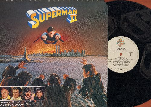 Williams, John - Superman II - Original Motion Picture Sound Track, Score composed by John Williams (ETCHED vinyl STEREO LP record) - NM9/VG7 - LP Records