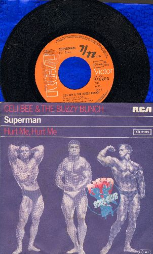 Beem Celi & The Buzzy Bunch - Superman/Hurt Me, Hurt Me (GERMAN Pressing with picture sleeve) (wol) - NM9/EX8 - 45 rpm Records