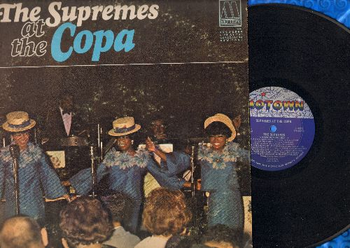 Supremes - At The Copa: Put On A Happy Face, I Am Woman, Baby Love, Make Someone Happy, Somewhere, Sam Cooke Medley (vinyl LP record) - EX8/VG7 - LP Records