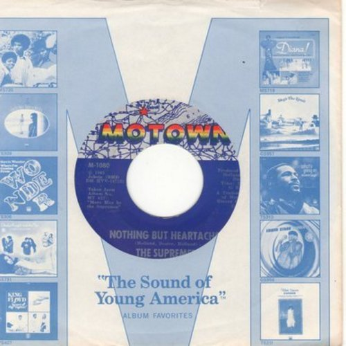 Supremes - Nothing But Heartaches/He Holds His Own (with Motown company sleeve) - EX8/ - 45 rpm Records