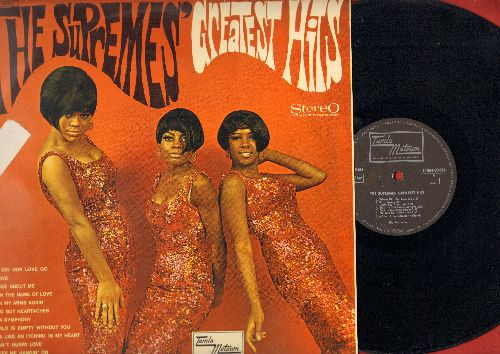 Supremes - The Supremes' Greatest Hits: Where Did Our Love Go, Baby Love, Stop! In The Name Of Love, You Keep Me Hangin' On (vinyl STEREO LP record, German Pressing)(soc) - NM9/EX8 - LP Records