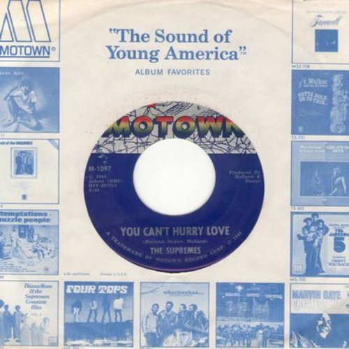 Supremes - You Can't Hurry Love/Put Yourself In My Place (first issue with Motown company sleeve) - EX8/ - 45 rpm Records