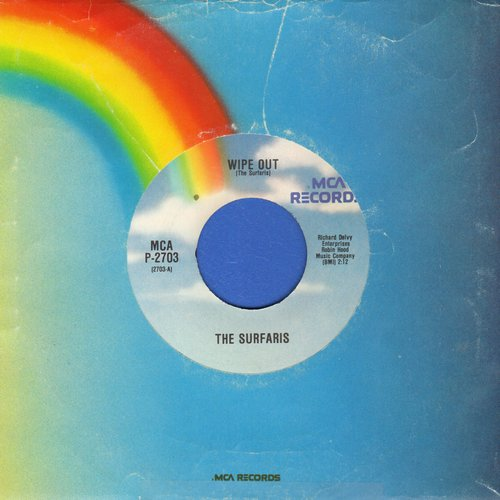 Surfaris - Wipe Out/Surfer Joe (re-issue with MCA company sleeve) - VG7/ - 45 rpm Records
