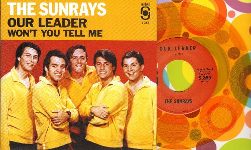 Sunrays - Our Leader/Won't You Tell Me (Yellow Vinyl re-issue with picture sleeve) - NM9/NM9 - 45 rpm Records