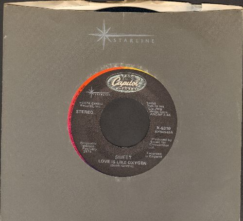 Sweet - Love Is Like Oxygen/California Nights (rainbow-circle label double-hit re-issue with Capitol company sleeve) - NM9/ - 45 rpm Records