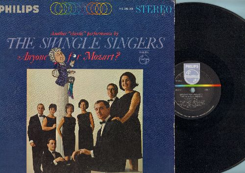 Swingle Singers - Anyone For Mozart?: Sonata No. 15, Allegro from Sonata, Eine kleine Nachtmusik (vinyl STEREO LP record) - NM9/EX8 - LP Records