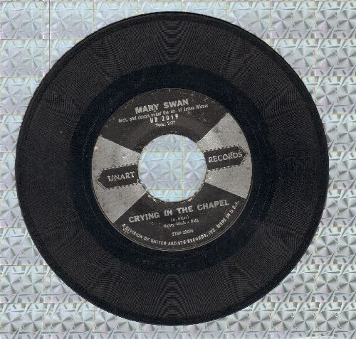 Swan, Mary - Crying In The Chapel/Dancin'  - VG6/ - 45 rpm Records