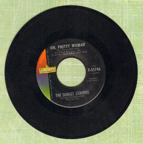 Sunset Strings - Oh, Pretty Woman/Running Scared - EX8/ - 45 rpm Records