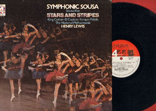 Lewis, Henry conducting the National Philharmonic Orchestra - Symphonic Sousa - Stars And Stripes: King Cotton, El Capitan, Semper Fidelis (vinyl STEREO LP record) - NM9/NM9 - LP Records