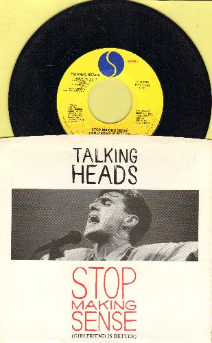 Talking Heads - Stop Making Sense (Girlfriend Is Better)/Heaven (with picture sleeve) - NM9/NM9 - 45 rpm Records