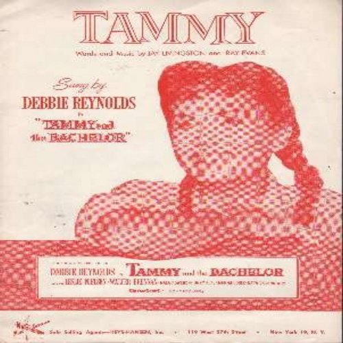 Reynolds, Debbie - Tammy - Vintage SHEET MUSIC for the Classic Film Theme made popular by Debbie Reynolds (THIS IS SHEET MUSIC, NOT ANY OTHER KIND OF MEDIA! Shipping same as 45rpm record) - EX8/ - Sheet Music