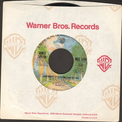 Taylor, James - How Sweet It Is (To Be Loved By You)/Sarah Maria - EX8/ - 45 rpm Records