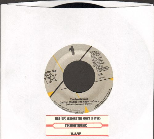 Technotronic - Get Up! (Before The Night Is Over)/Raw (with juke box label) - M10/ - 45 rpm Records