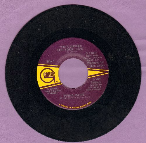 Teena Marie - I'm A Sucker For Your Love/De Ja Vu (I've Been Here Before) - NM9/ - 45 rpm Records