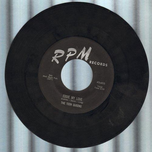 Teen Queens - Eddie My Love/Just Goofed (black label first pressing) - VG7/ - 45 rpm Records