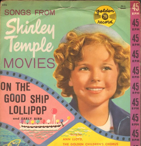 Lloyd, Anne & The Sandpipers - On The Good Ship Lollipop/Early Bird (with picture sleeve) - VG7/VG7 - 45 rpm Records