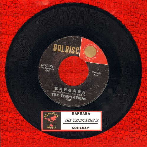 Temptations - Barbara (FANTASTIC Doo-Wop Sound!)/Someday (this is NOT the Motown Group, but a 1950s White Doo-Wop Group!) - EX8/ - 45 rpm Records