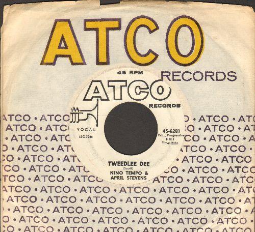 Tempo, Nino & April Stevens - Tweedlee Dee/Whispering (white label DJ advance pressing with vintage Atco company sleeve) - EX8/ - 45 rpm Records