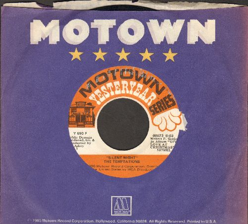 Temptations - Silent Night/Everything For Christmas (re-issue ith Motown company sleeve) - VG7/ - 45 rpm Records