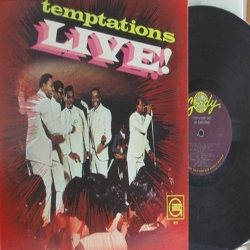 Temptations - Live!: My Girl, Yesterday/What Now My Love, Ain't Too Proud To Beg, Get Ready, Old Man River, Don't Look Back (vinyl MONO LP record) - VG7/VG6 - LP Records