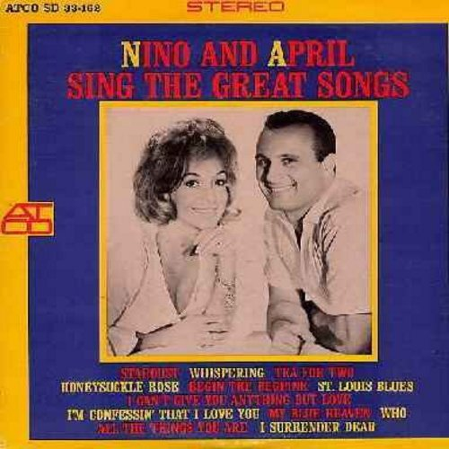 Tempo, Nino & April Stevens - Nino And April Sing The Great Songs: My Blue Heaven, Tea For Two, Stardust, St. Louis Blues, Begin The Beguine, I Can't Give You Anything But Love (vinyl STEREO LP record) - M10/NM9 - LP Records