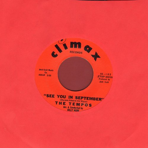 Tempos - See You In September/Bless You My Love - EX8/ - 45 rpm Records