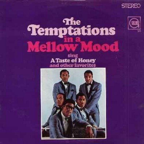 Temptations - In A Mellow Mood: Somewhere, Ol' Man River, What Now My Love, The Impossible Dream, For Once In My Life, A Taste Of Honey (vinyl STEREO LP record) - EX8/EX8 - LP Records