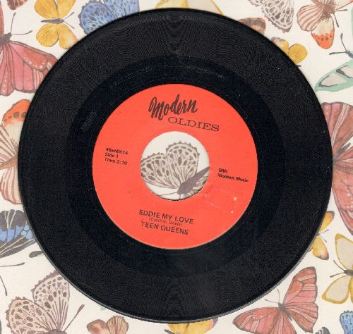 Teen Queens - Eddie My Love/Billy Boy (early re-issue) - EX8/ - 45 rpm Records