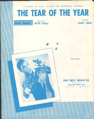Wilson, Jackie - The Tear Of The Year - RARE vintage SHEET MUSIC for the Jackie Wilson Hit - EX8/ - Sheet Music