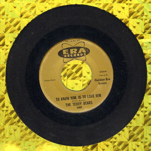 Teddy Bears - To Know Him Is To Love Him/Don't You Worry My Little Pet (re-issue) - EX8/ - 45 rpm Records