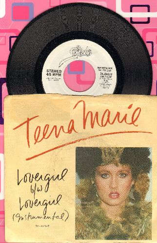 Teena Marie - Lovergirl/Lovergirl (Instrumental) (DJ advance pressing with picture sleeve) - NM9/EX8 - 45 rpm Records