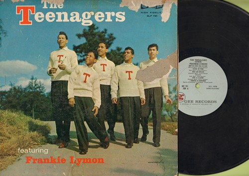 Teenagers Featuring Frankie Lymon - The Teenagers: Why Do Fools Fall In Love, I Promise To Remember, I Want You To Be My Girl, ABC's Of Love, I'm Not A Juvenile Delinquent (vinyl MONO LP record) - VG7/G5 - LP Records