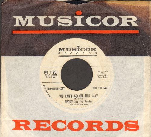 Teddy & The Pandas - We Can't Go On This Way/Smokey Fire (DJ advance pressing with Musicor company sleeve) - VG7/ - 45 rpm Records