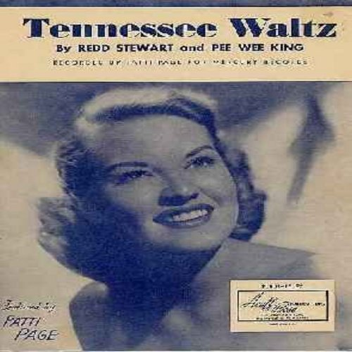 Page, Patti - Tennessee Waltz - Original SHEET MUSIC of the song made popular by Patti Page. NICE cover portrait! (THIS IS SHEET MUSIC, NOT ANY OTHER KIND OF MEDIA! SHIPPED IN CUTOMIZED PROTECTIVE PLASTIC SLEEVE - INTERNATIONAL SHIPPING COST SAME AS ONE 4