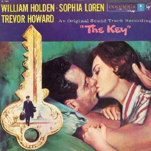 Arnold, Malcolm - The Key - Original Motion Picture Sound Track, Music Score by Malcolm Arnold, RARE 1959 first issue (vinyl MONO LP record) - NM9/VG7 - LP Records